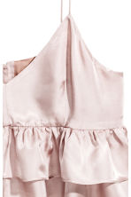 Short tiered strappy top - Powder pink - Ladies | H&M 3