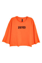Cropped top - Orange - Ladies | H&M CN 2