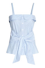Cotton top - Blue/White/Striped - Ladies | H&M 2