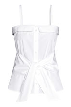 Cotton top - White - Ladies | H&M 2