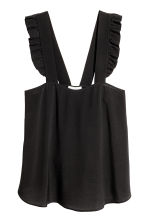 Top in tessuto increspato - Nero -  | H&M IT 2