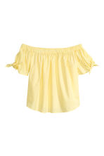 Off-the-shoulder blouse - Light yellow - Ladies | H&M 2