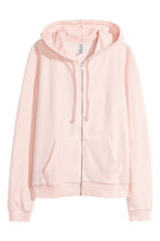 Hooded velour jacket - Powder - Ladies | H&M CN 2