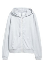絲絨連帽外套 - Light grey - Ladies | H&M 2