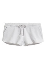 Short velour shorts - Light grey - Ladies | H&M 2