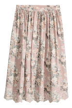 Embroidered skirt - Light pink/Floral - Ladies | H&M 2