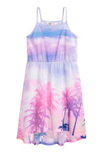 Patterned jersey dress - Pink/Palms -  | H&M CA 2