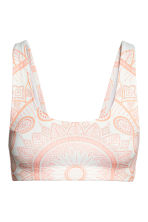 Bikini top - White/Patterned - Ladies | H&M 1