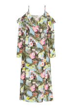 Wrapover dress - Light blue/Floral - Ladies | H&M CN 2