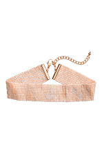 Woven beaded choker - Powder pink - Ladies | H&M 1