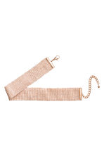 Woven beaded choker - Powder pink - Ladies | H&M CN 2