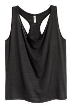 Draped vest top - Black -  | H&M CN 2