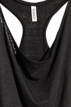 Draped vest top - Black - Ladies | H&M CN 3