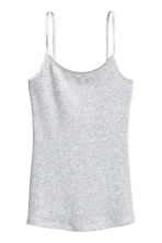 Jersey strappy top - Light grey marl - Ladies | H&M CN 2