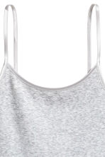 Jersey strappy top - Light grey marl - Ladies | H&M 3
