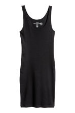 Ribbed jersey dress - Black - Ladies | H&M CN 2