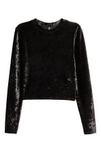 Velours sweater - Zwart - DAMES | H&M BE 2