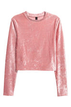 Velour top - Pink - Ladies | H&M 2