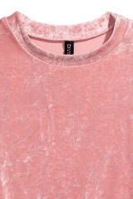 Velour top - Pink - Ladies | H&M 3