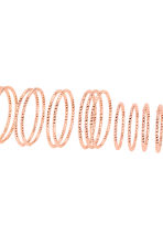 14-pack rings - Rose gold - Ladies | H&M 2
