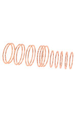 14-pack rings - Rose gold - Ladies | H&M 1