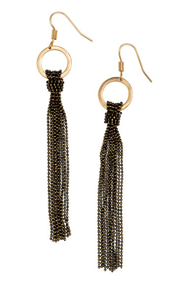 Long earrings - Black - Ladies | H&M CN 1