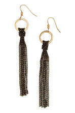 Long earrings - Black - Ladies | H&M GB 1