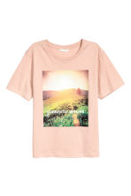 Printed T-shirt - Powder - Ladies | H&M CN 2