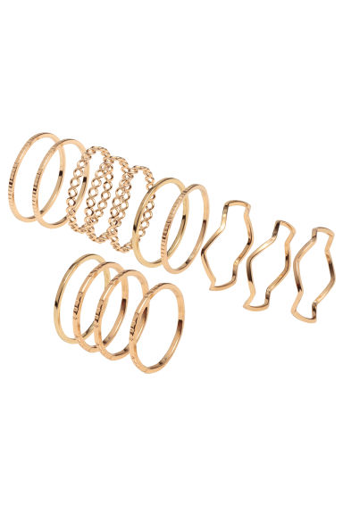 14-pack rings - Gold - Ladies | H&M 1