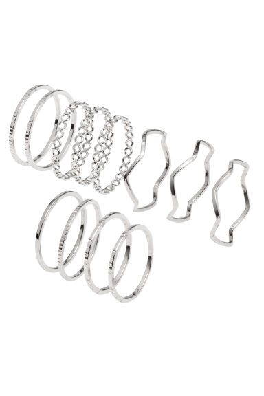 14-pack rings - Silver - Ladies | H&M 1