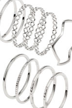 14-pack rings - Silver - Ladies | H&M 2