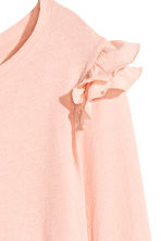 Jersey crêpe top - Powder pink - Ladies | H&M CN 3