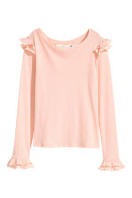 Jersey crêpe top - Powder pink - Ladies | H&M CN 2