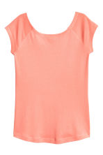 Ribbed jersey top - Coral - Ladies | H&M CN 2