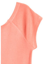 Ribbed jersey top - Coral - Ladies | H&M CN 3