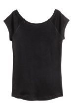 Ribbed jersey top - Black - Ladies | H&M 2