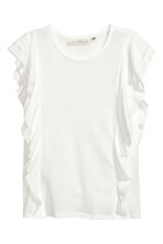 Frilled top - White - Ladies | H&M CA 2