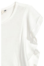 Frilled top - White - Ladies | H&M CA 3