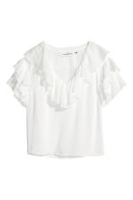 Frilled top - White - Ladies | H&M 2