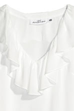 Frilled top - White - Ladies | H&M 3