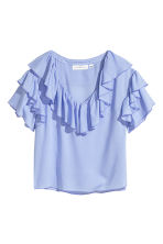 Frilled top - Light blue - Ladies | H&M 2