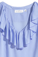 Frilled top - Light blue - Ladies | H&M 3