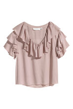 Frilled top - Powder pink - Ladies | H&M CN 2
