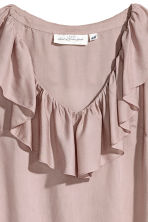 Frilled top - Powder pink - Ladies | H&M CN 3