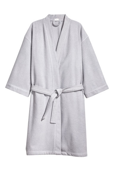 Terry dressing gown - Light grey - Home All | H&M GB