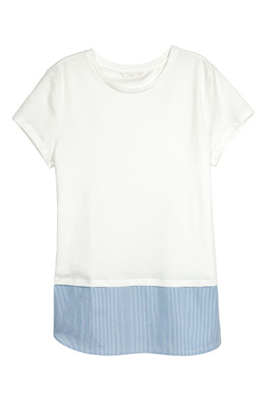 Short-sleeved top - White - Ladies | H&M CA 1