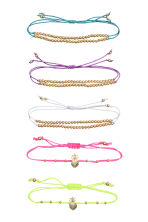 5-pack bracelets - Gold/Multicoloured - Ladies | H&M 1