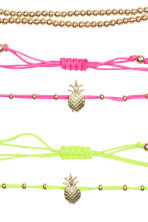 5-pack bracelets - Gold/Multicoloured - Ladies | H&M 2