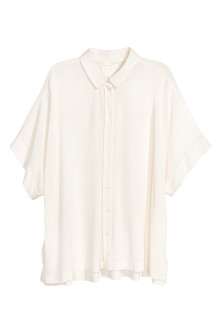 Blouse with dolman sleeves