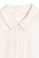 Blouse with dolman sleeves - Natural white - Ladies | H&M CN 3